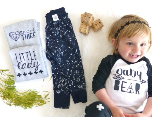 Tiny Tribe Kids Clothing Eli and I Baby and toddler clothes flatlay