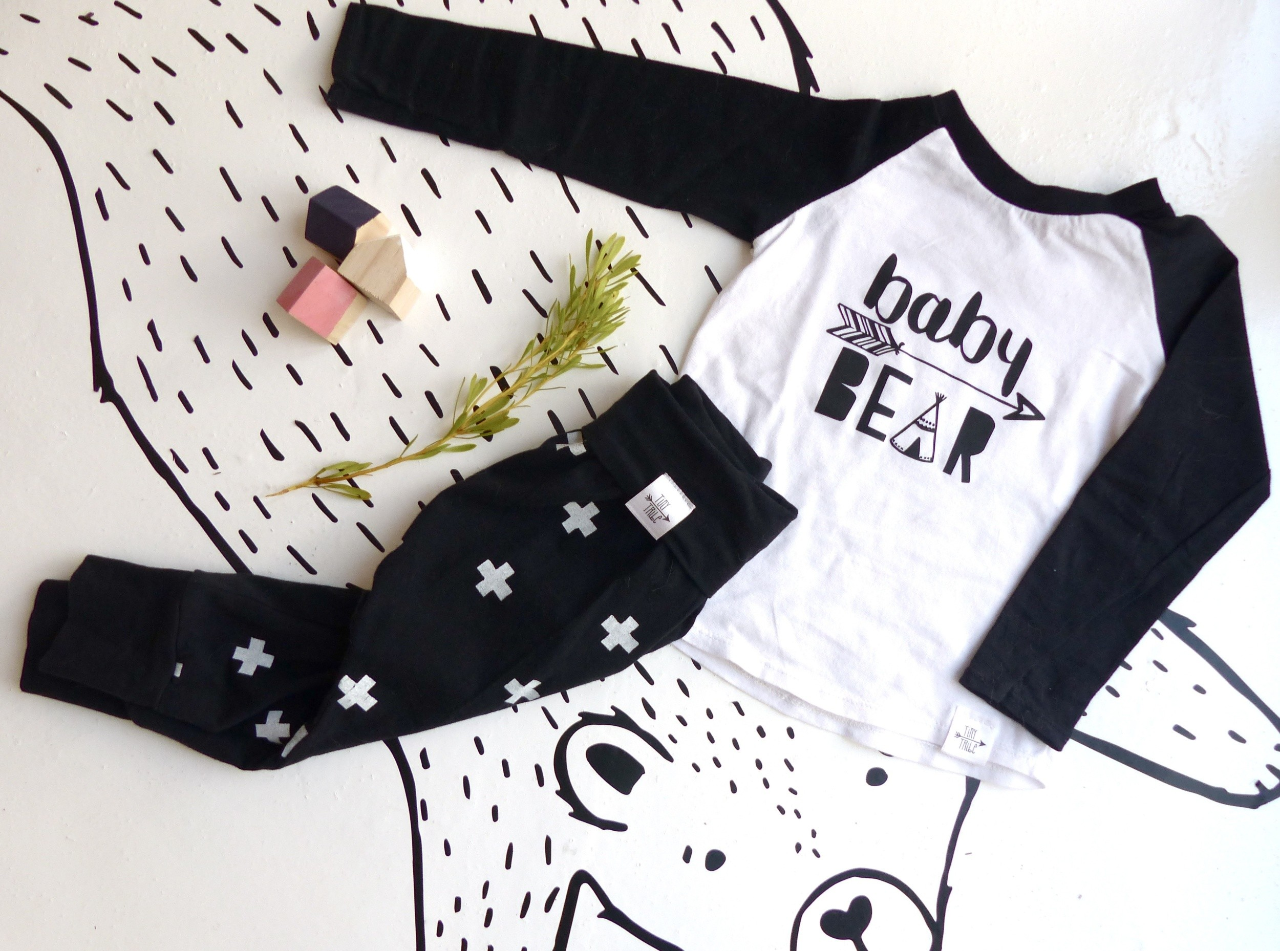 tiny-tribe-kids-clothing-eli-and-i-baby-bear-tshirt-and-swiss-cross-harem-pants-flatlay
