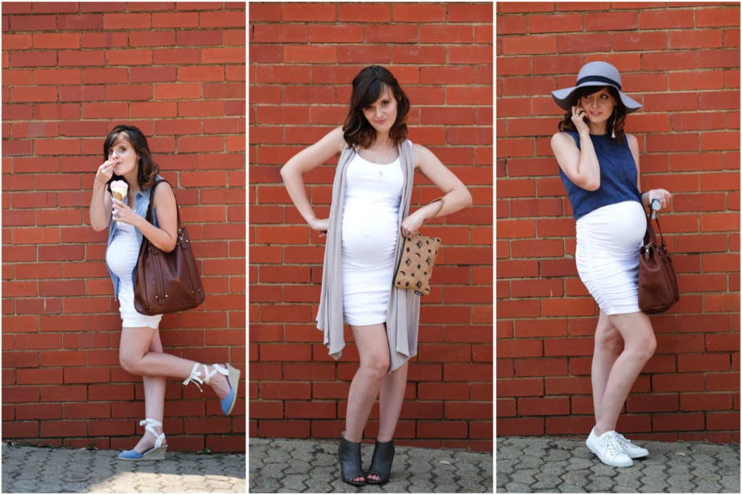 Just a Mamma Yummy Mummy Maternity Capsule challenge Ruche dress