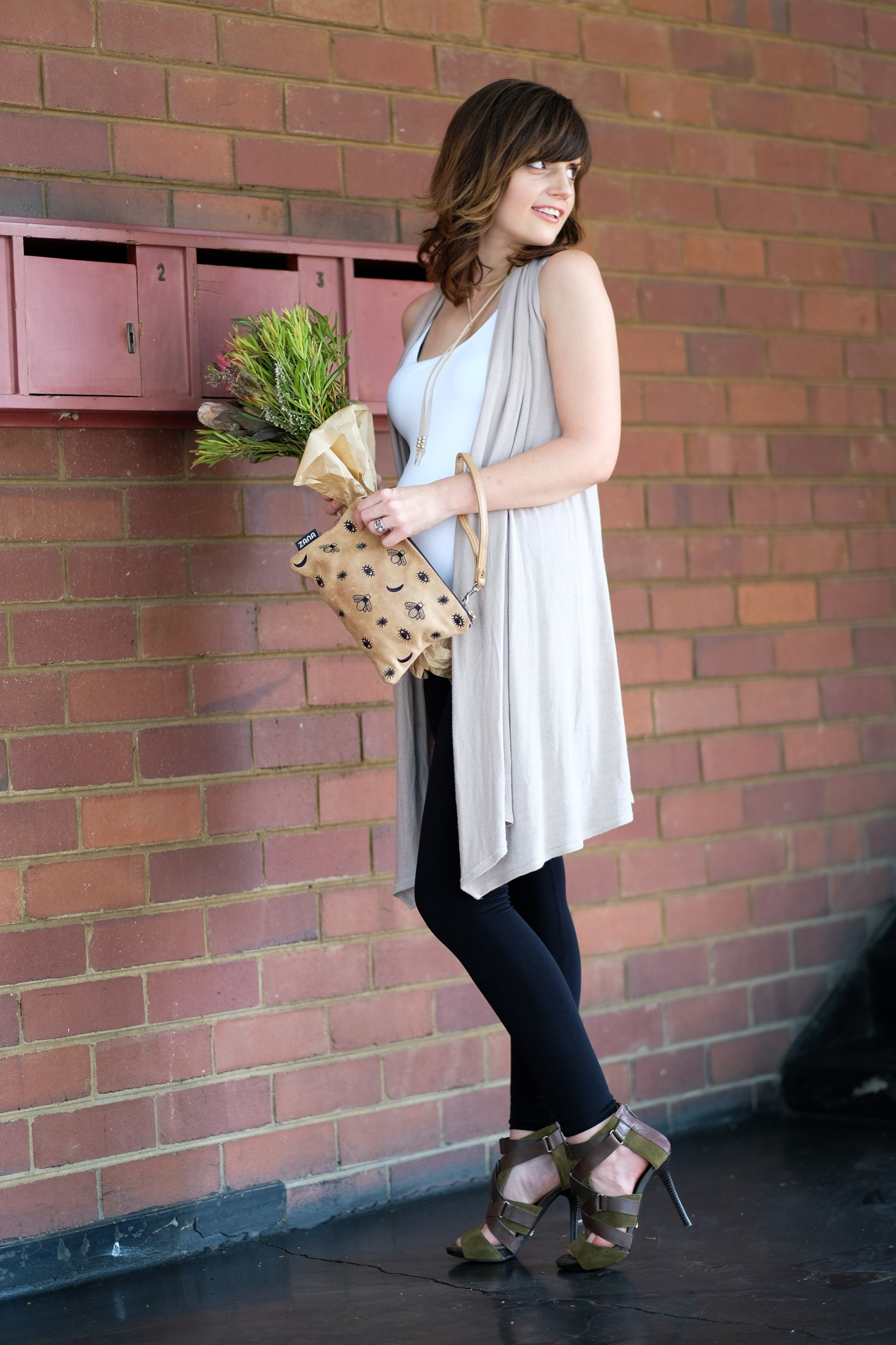 Tank top and extra length leggings, Style The Bump: Yummy Mummy Maternity Ultimate Tank Top and Extra Length Leggings.