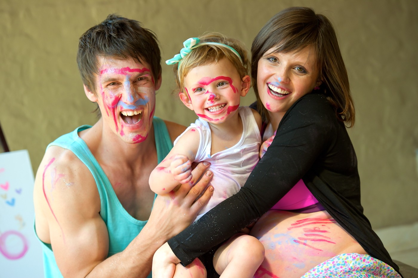Family Maternity Photoshoot, Body Paint inspired Family Maternity Photoshoot