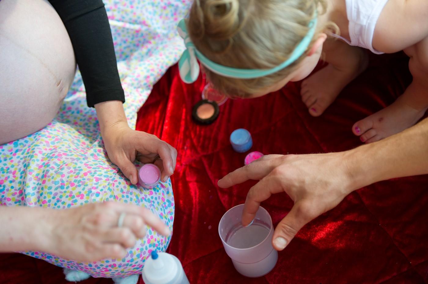 Body Paint inspired Family Maternity Photoshoot
