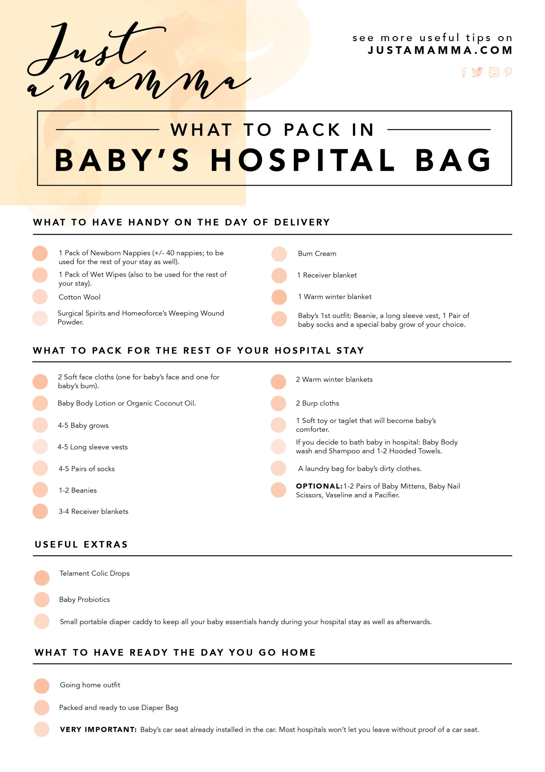 hospital bag for baby, What's in the Bag: Hospital Bag for Baby.