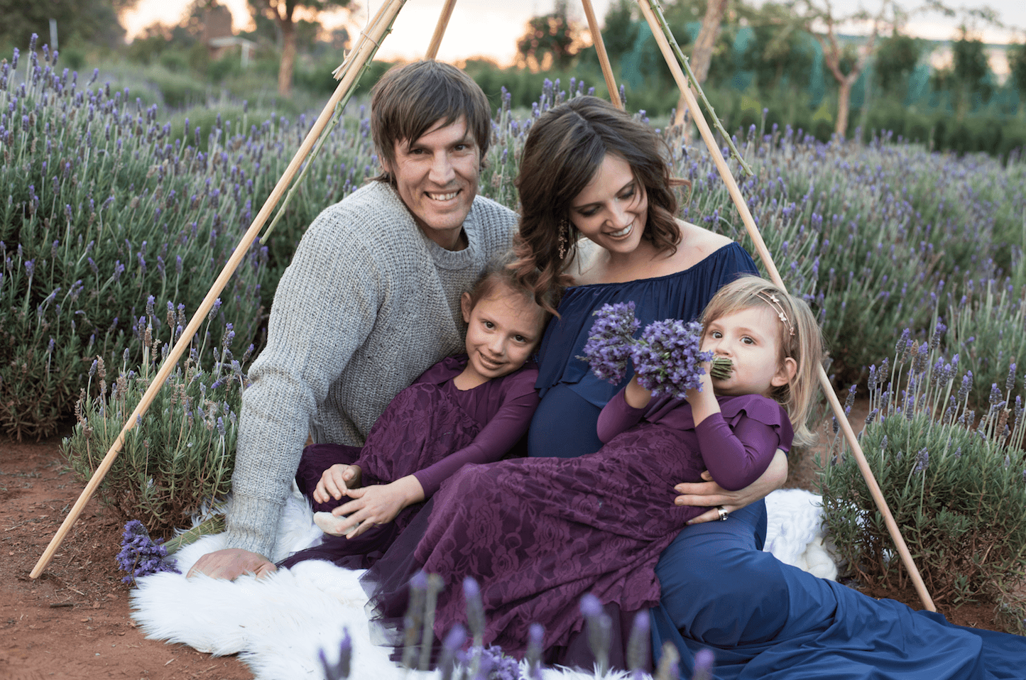 Maternity photoshoot, Family Maternity photoshoot amongst the Lavender fields.