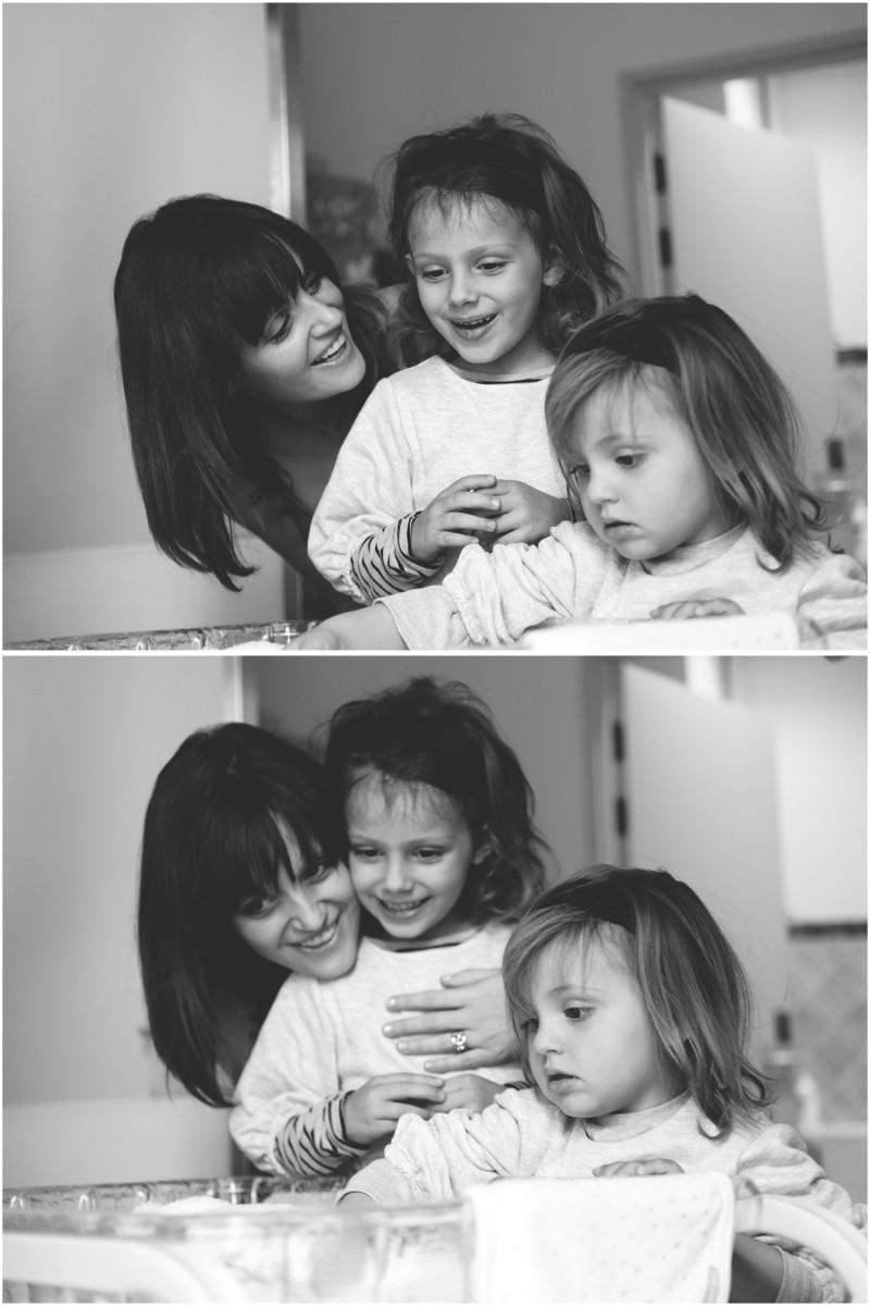 Gender reveal, Gender reveal: The girls meet baby Ava.