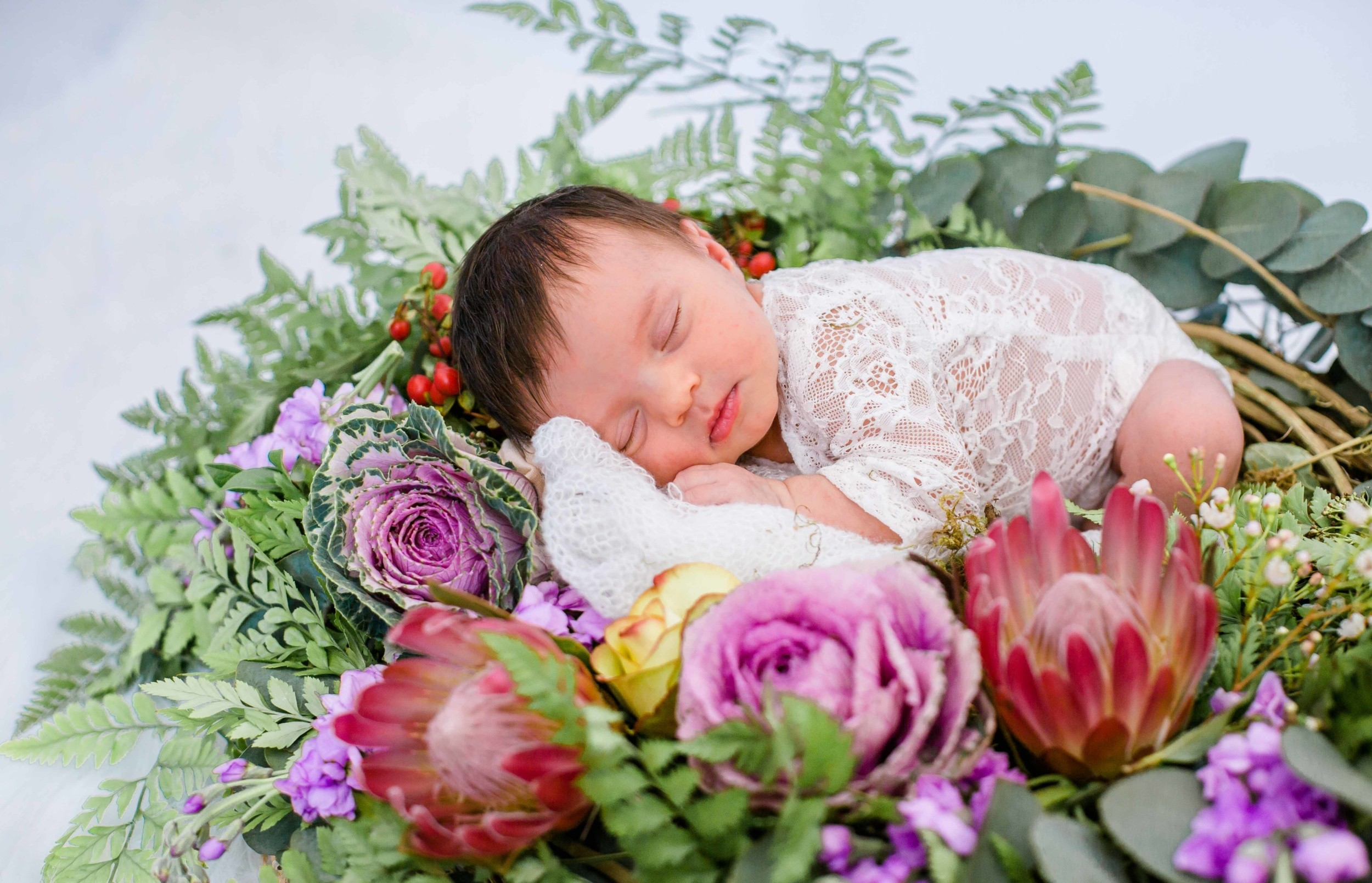 Magical floral Newborn Photoshoot by Velani Venter