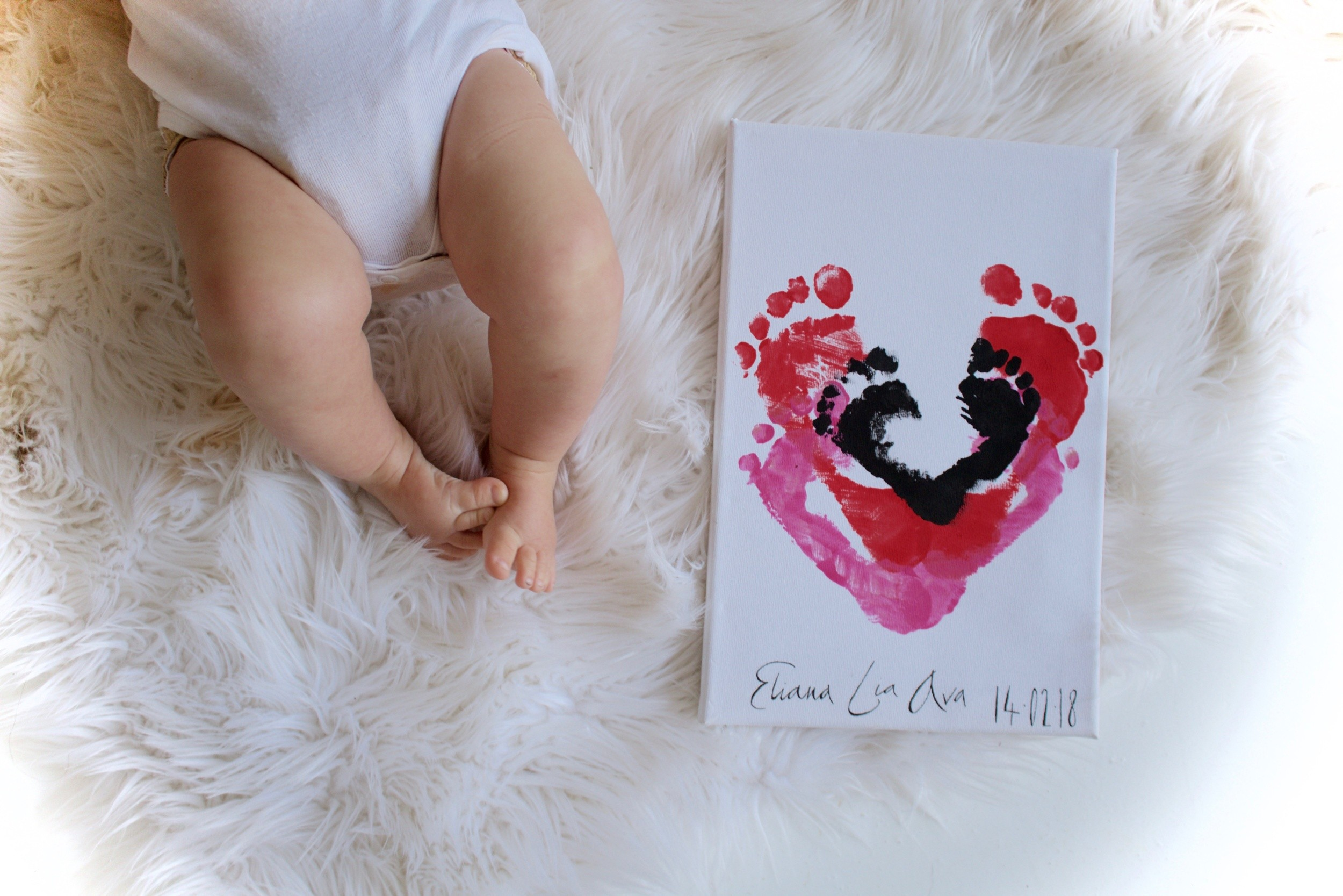 JustaMamma Valentines Day gift ideas kids footprints