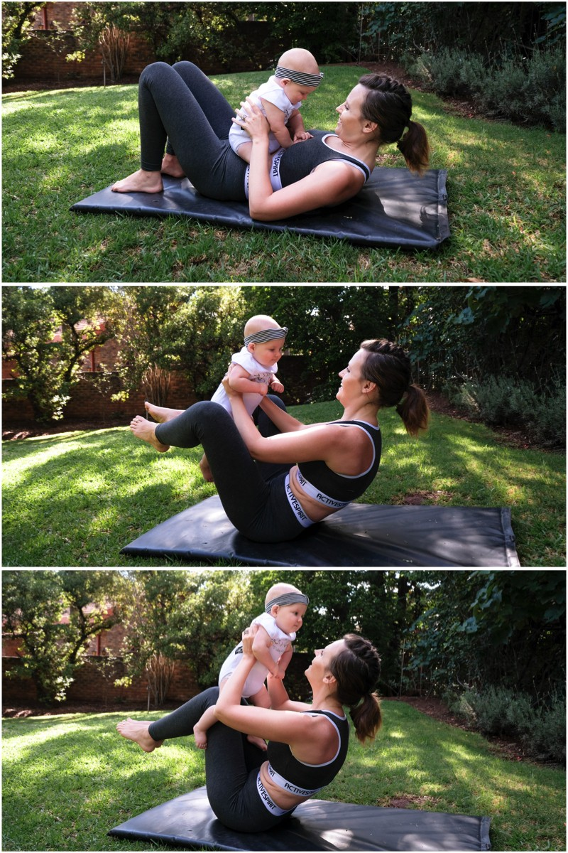 JustaMamma Mommy and Baby Fitness crunch