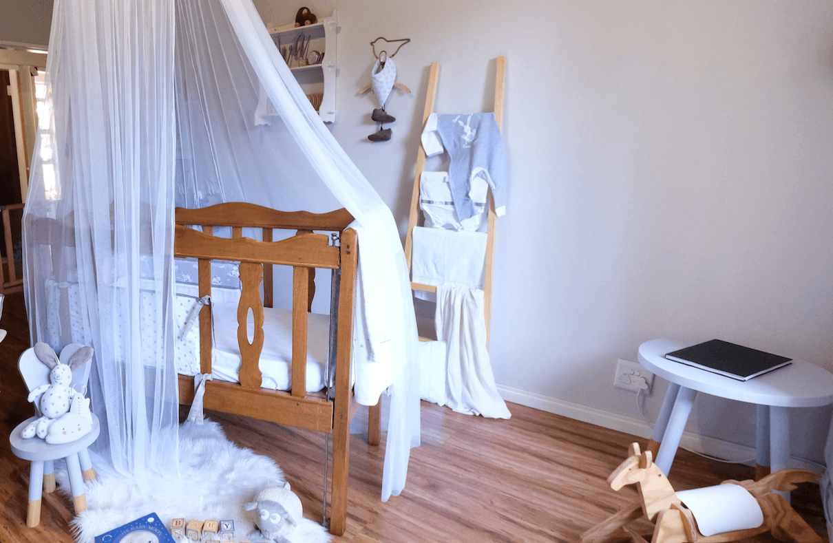 JustaMamma Sleeping and bedtime routine essentials crib canopy