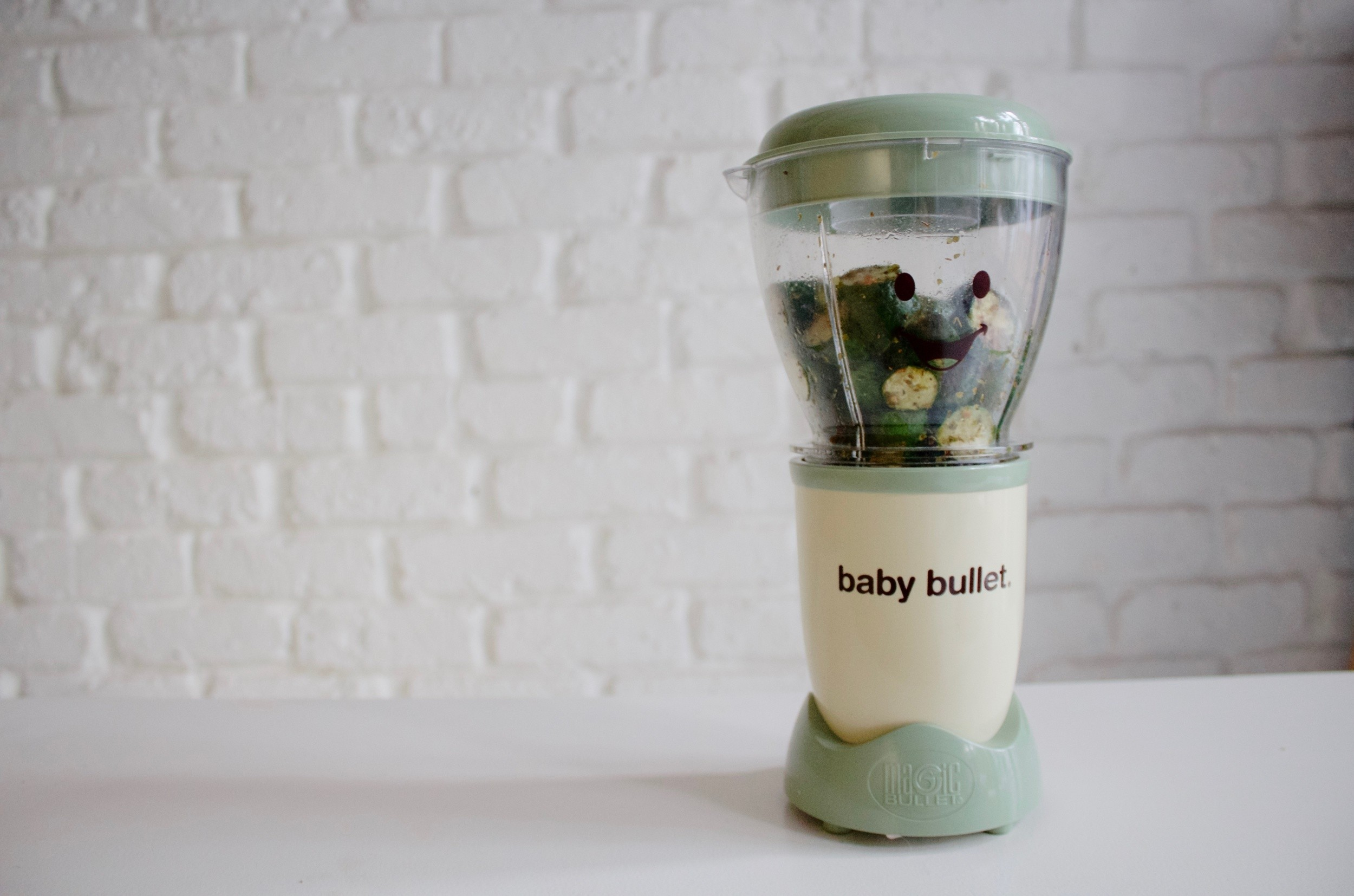 JustaMamma Homemade baby food Baby Bullet Roasted zucchini puree