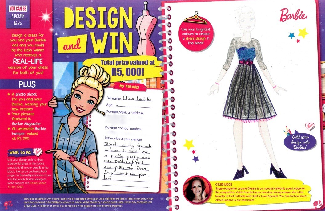 Barbie Design and win your dream dress