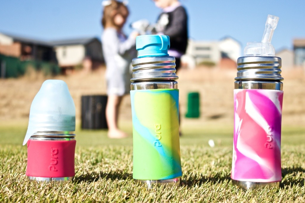 Just a Mamma Pura Stainless bottles for the entire family