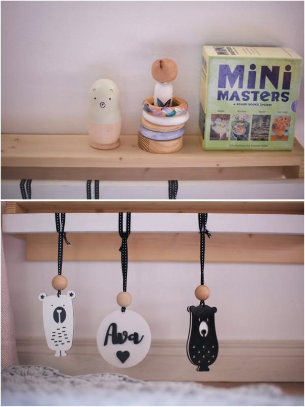 Just a Mamma little girl room book shelf