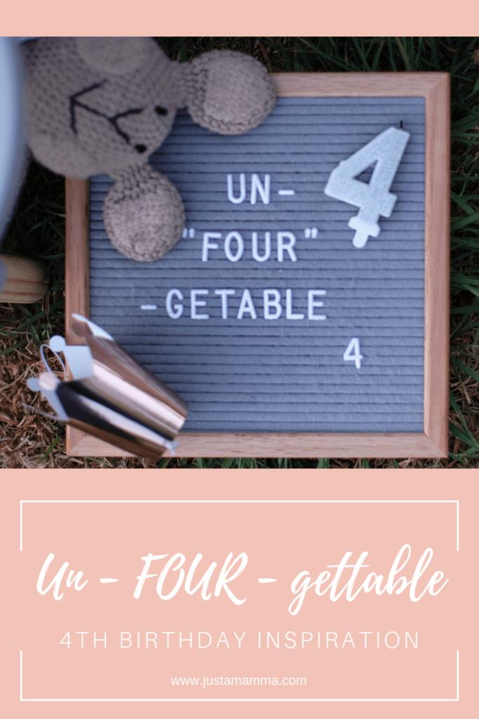Un-four-gettable fourth birthday theme