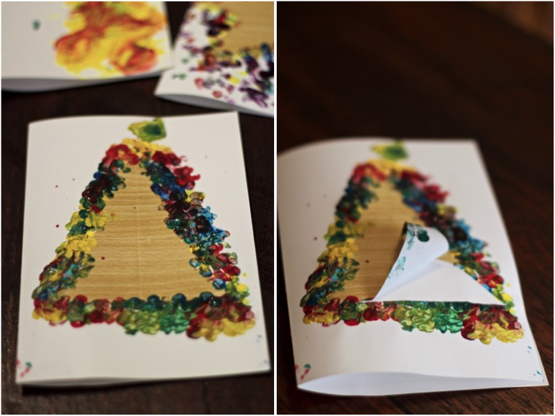DIY Christmas Cards, Easy DIY Christmas Cards to make with the kids
