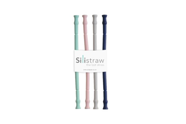 Just a Mamma Silistraw reusable siliscone straws 4 pack