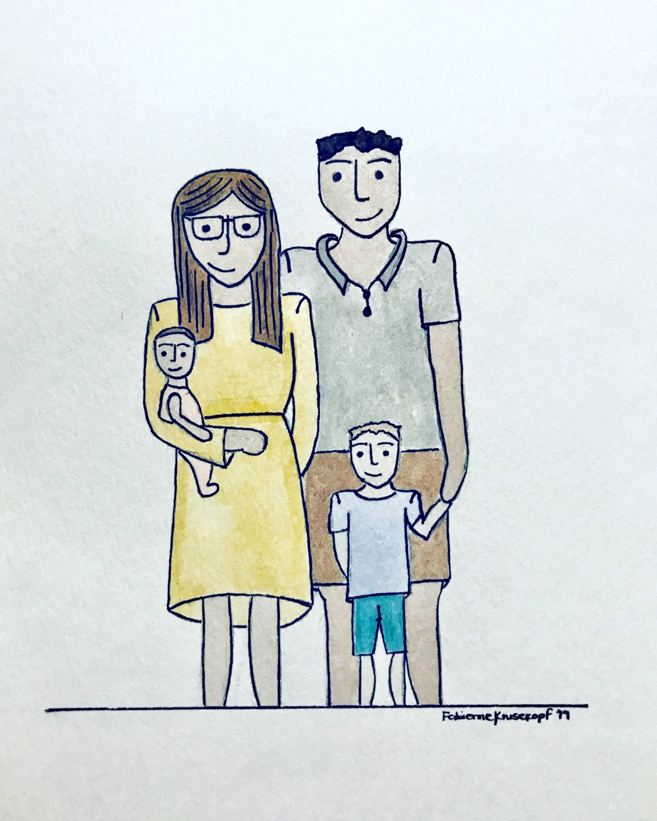 Family-portrait-illustration