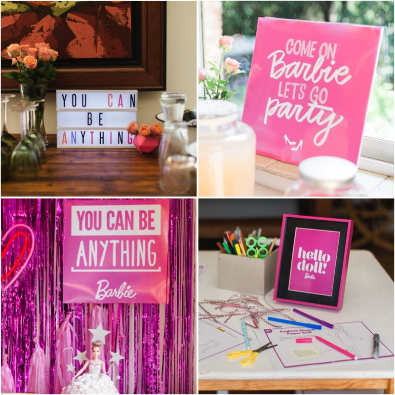 Barbie Birthday Party Free Printables