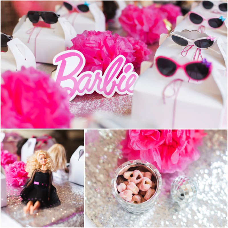 Barbie Birthday Party Table Setting