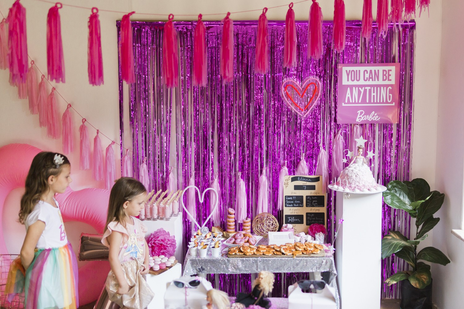 Barbie Birthday Party Set Up 2