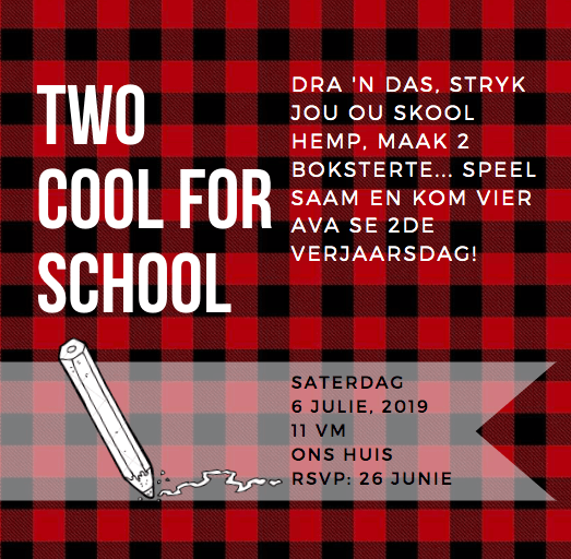 Two Cool For School Invitation