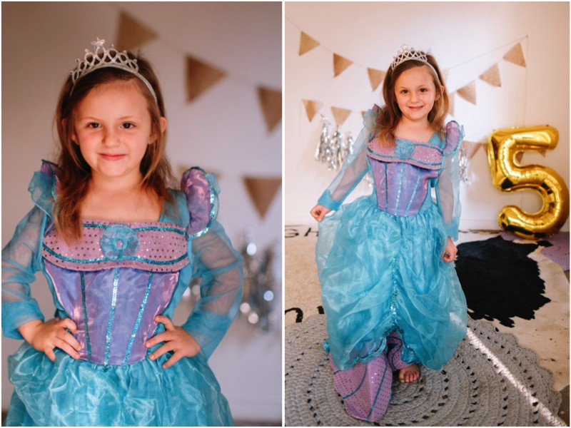 5th Birthday Party Princess Ariel Outfit
