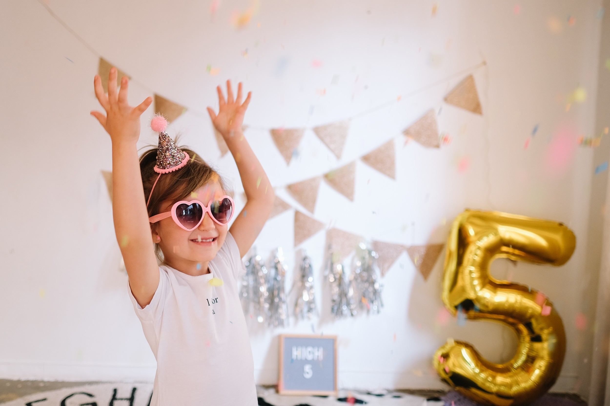 HIGH FIVE celebrations for our Lia on her 5th birthday!