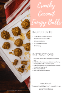 Easy No Bake Coconut and Peanut Butter Energy Balls
