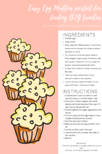 Egg muffin recipe and filling ideas