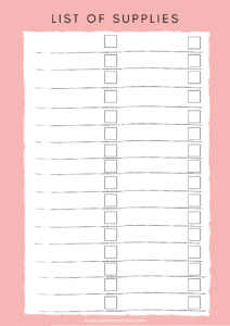 FREE Weekly activity planner for kids page2