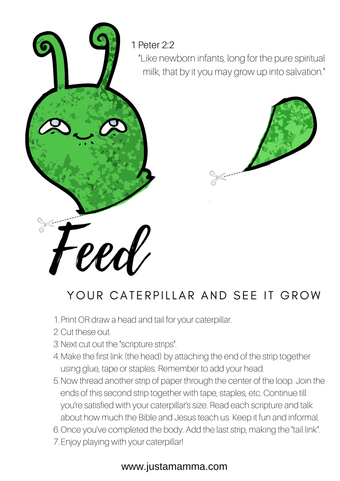 Diy Making A Scripture Caterpillar1