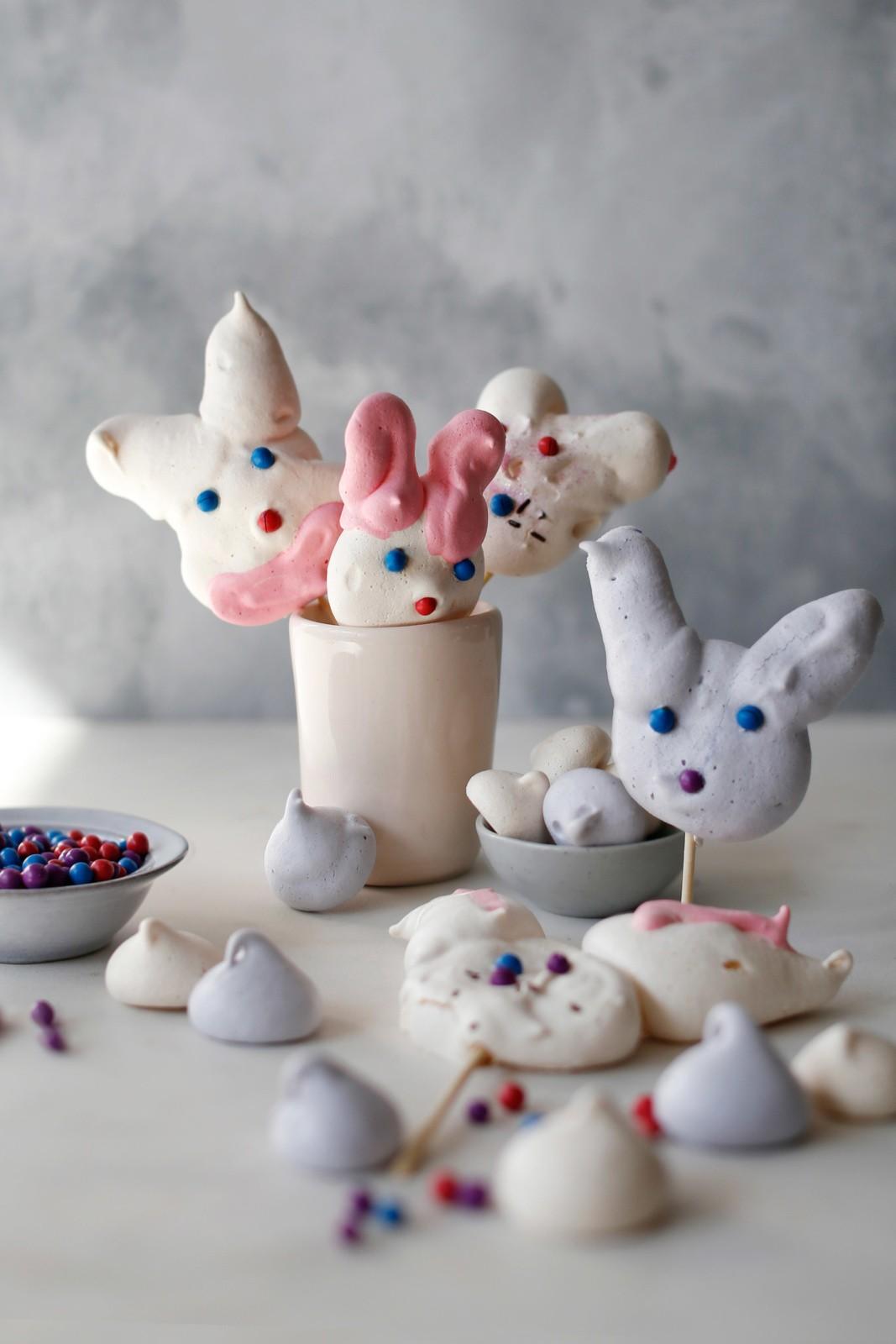 Easter Bunny Meringues