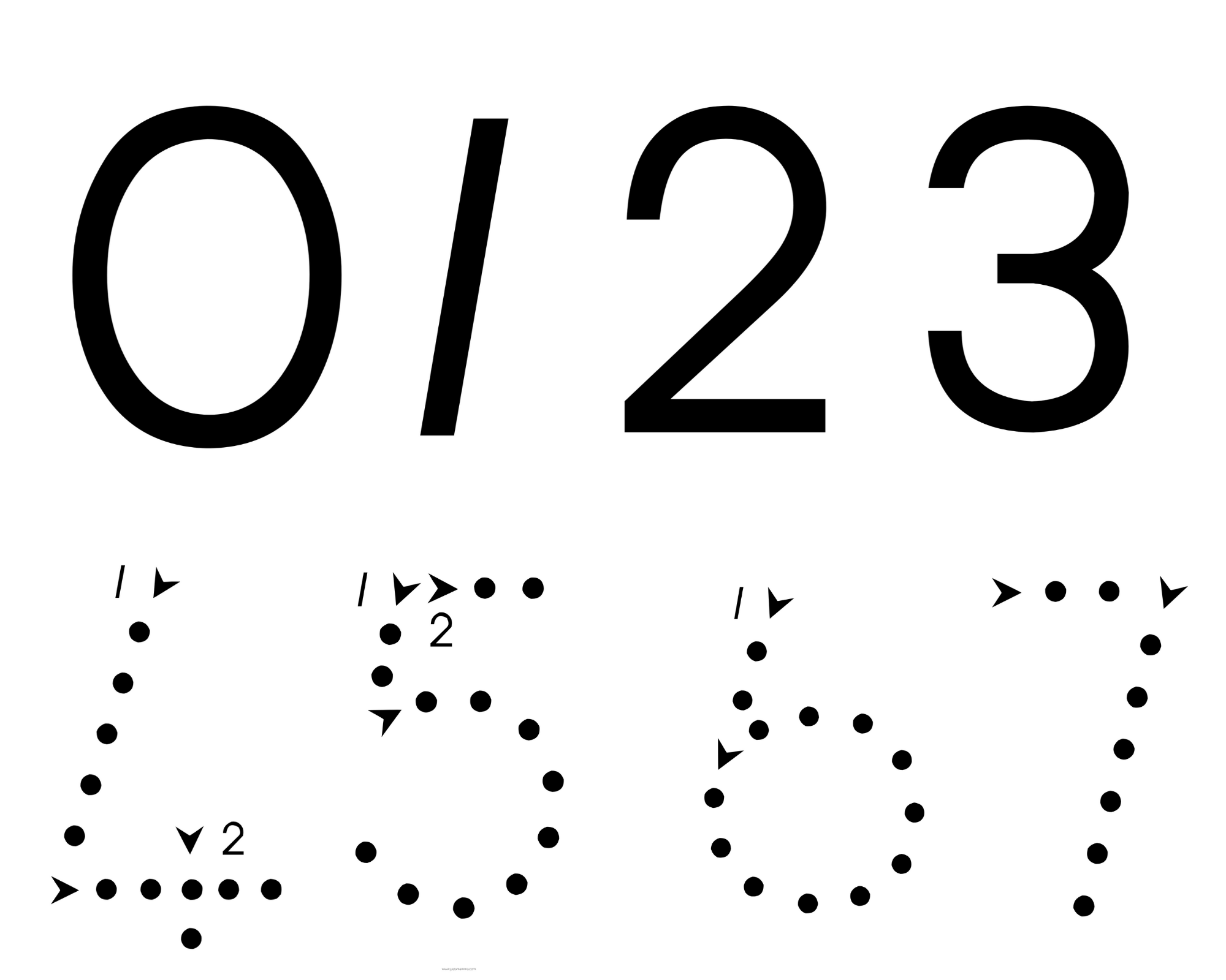 Free Grade 1 Font Flash Card Printables
