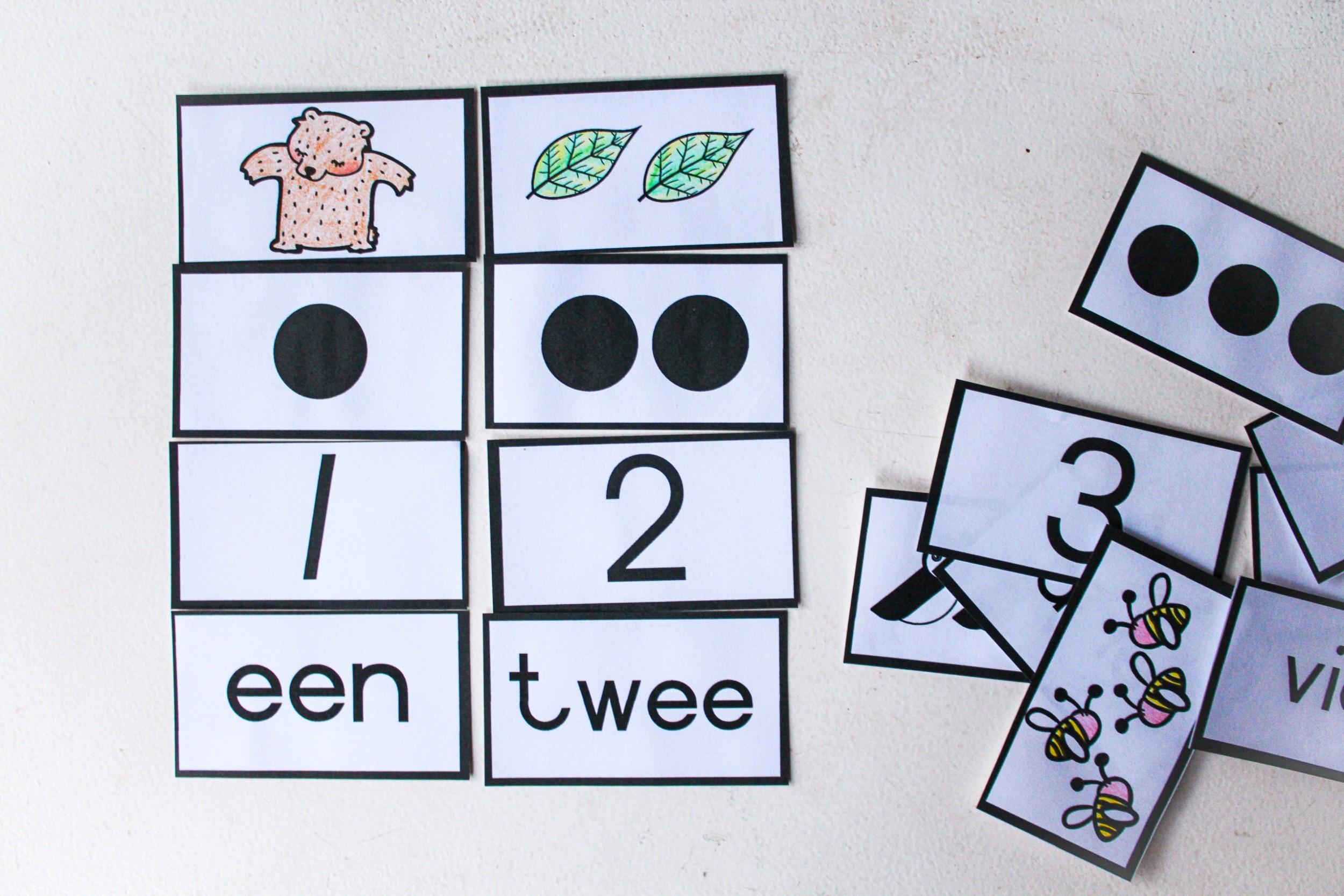 FREE number flash cards 1-20 (Grade 1 Font)