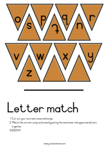 Upper Case And Lower Case Matching Game4