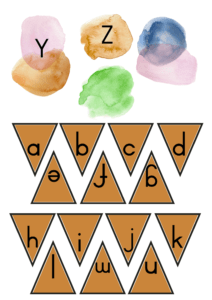 Upper case and lower case matching game 3