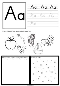 free letter recognition worksheets a z 1