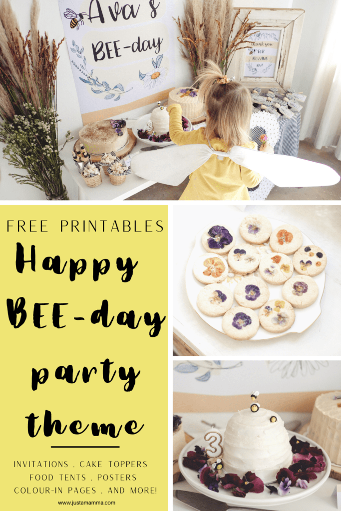 FREE PARTY PRINTABLES Happy BEE day 1