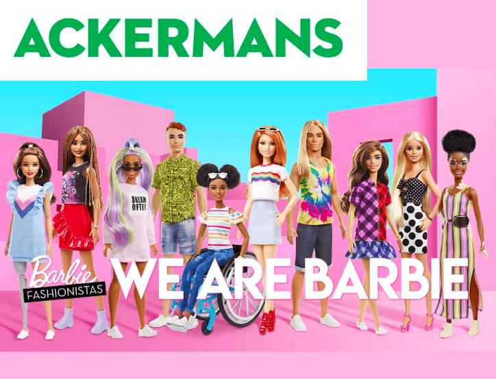 Ackermans Barbie Fshionistas
