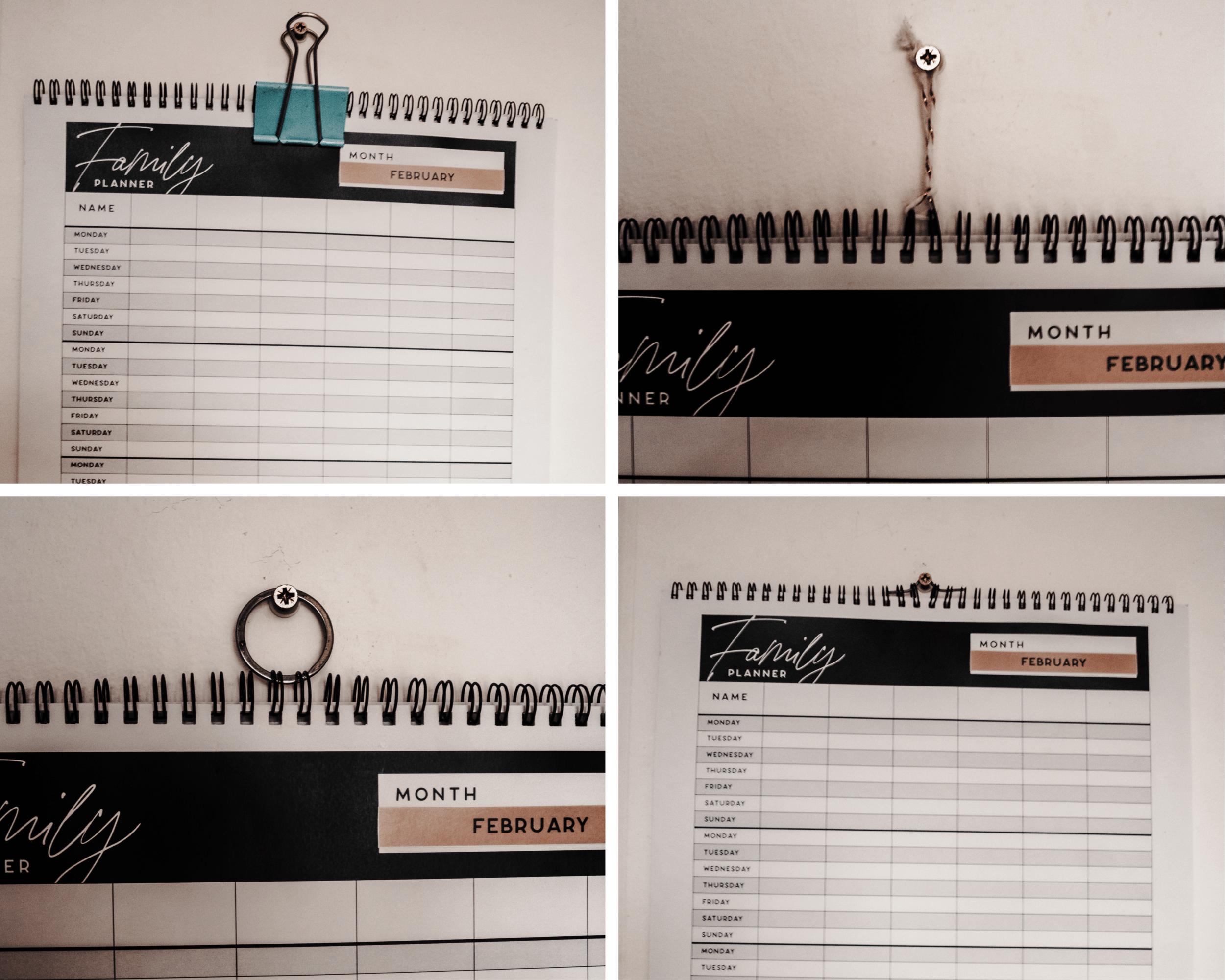 Diy Wall Hook For Family Calendar