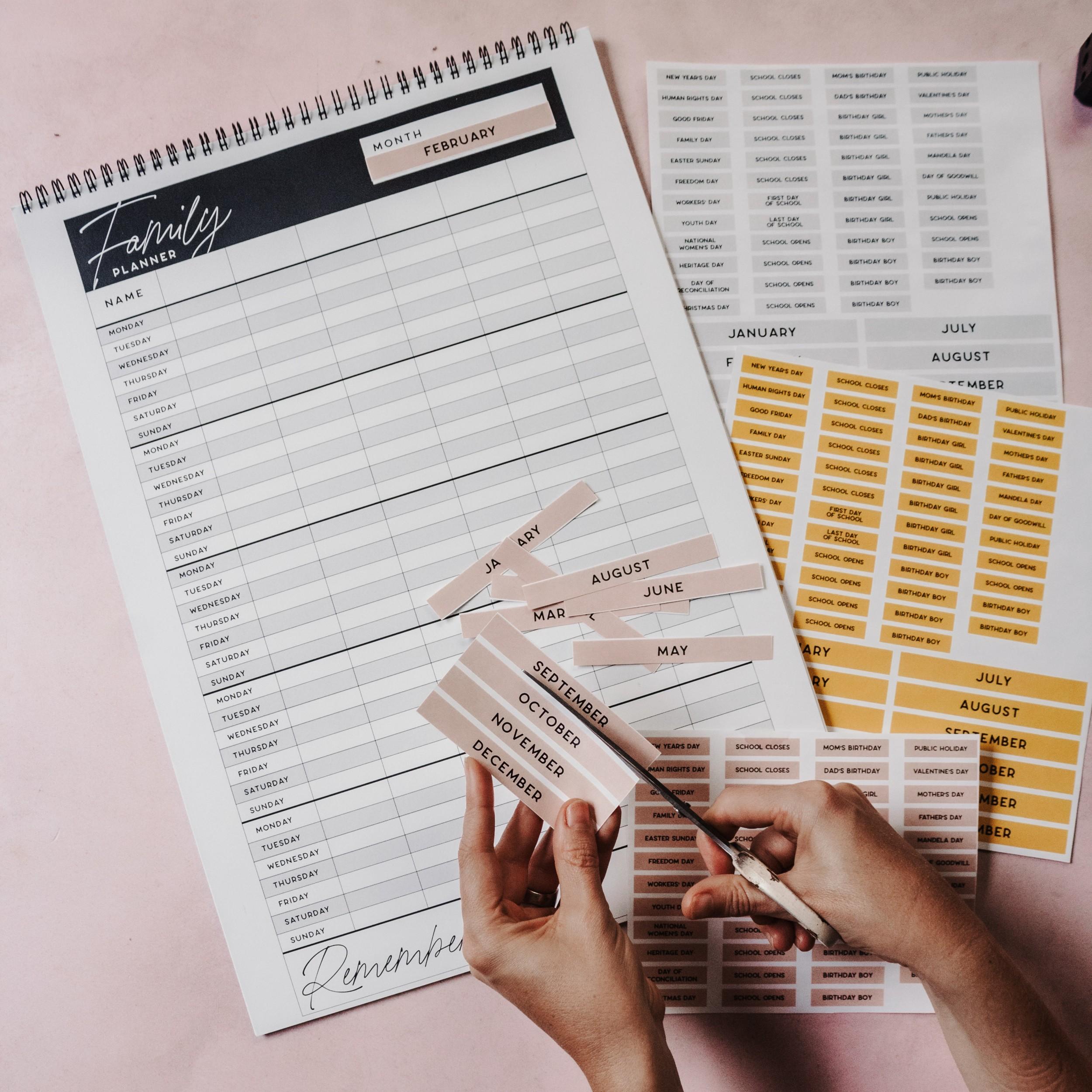 Free Printables Family Calendar