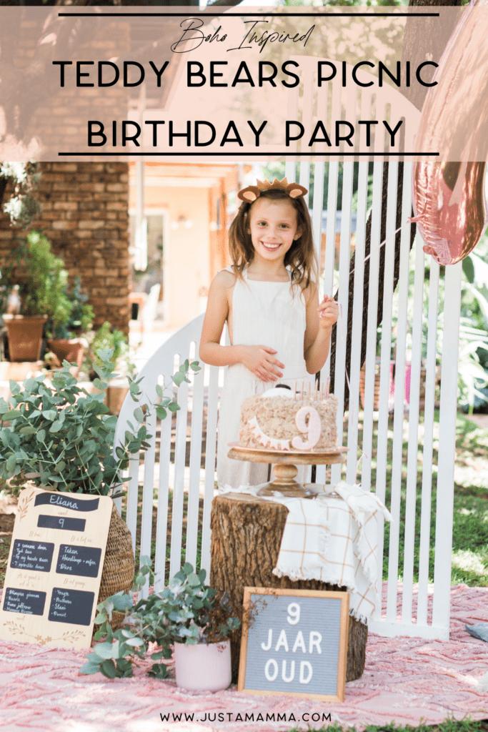 boho teddy bears picnic birthday party 1