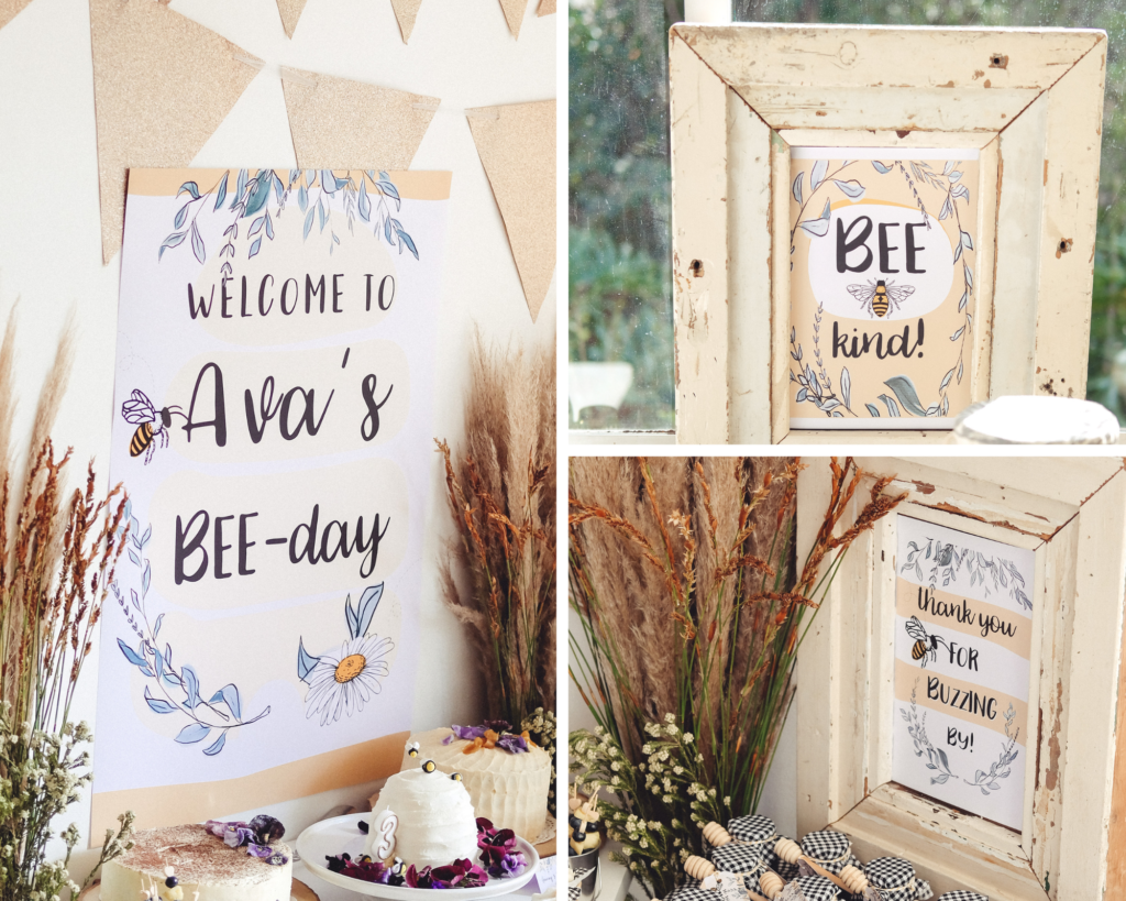 bee themed 3rd birthday party ideas
