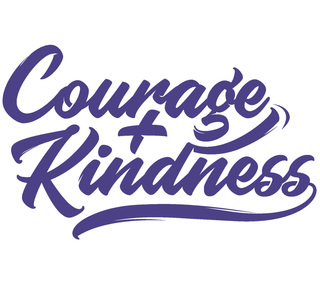 courage kindness purple