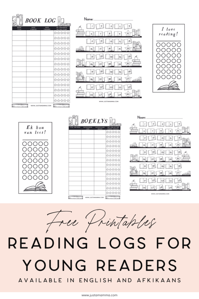 free printable reading logs for young readers 1