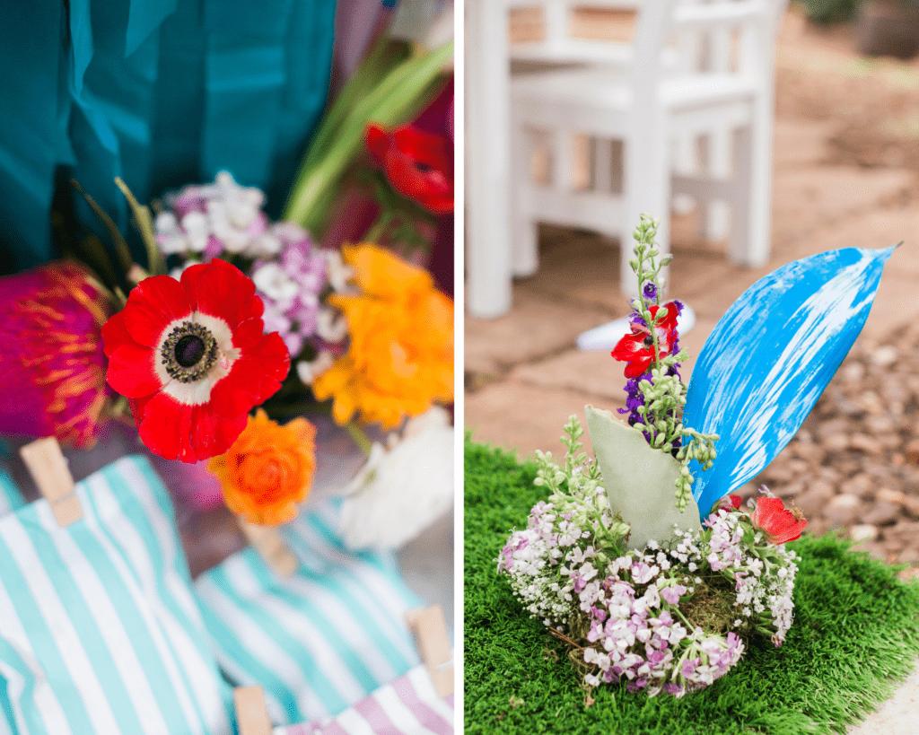 troll inspired flower decor