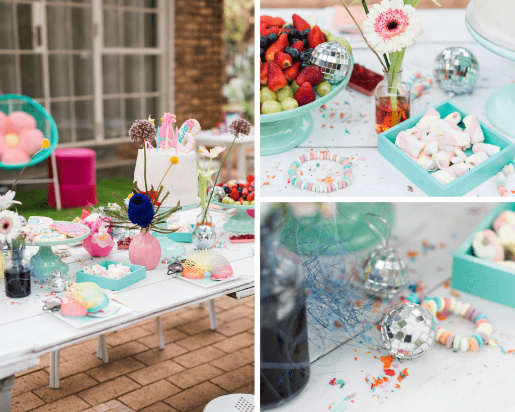 trolls inspired party decor table setting