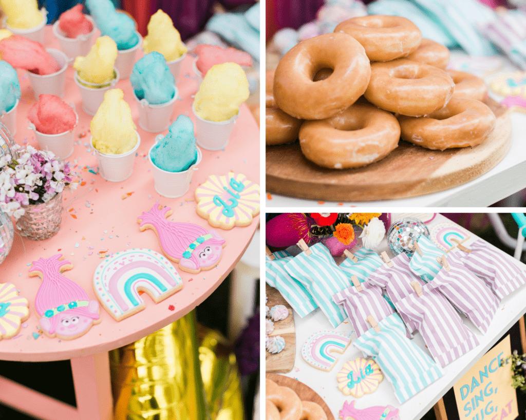 princess poppy trolls birthday party food 1
